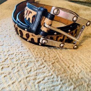 Michael Kors Animal Print Calf Hair Belt